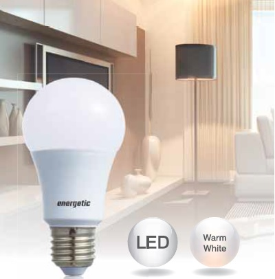 Energetic Lamp A60 Frosted Bulb E27 9W LED 2700K 806lm 5752 0912 51