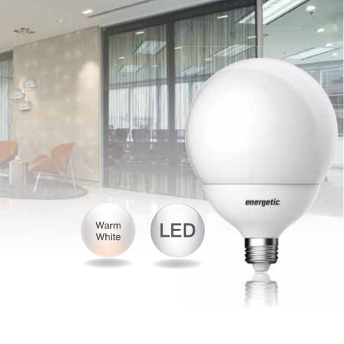 17W Energetic LED G120 Frosted Globe BC-B22 2700K 120mm Ø x 166mm 5763 1713 51