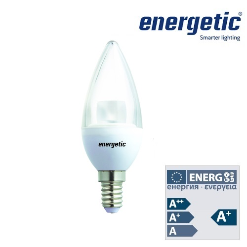 Energetic Lamp 4.8W E14 Candle Clear LED Dimmable 2700k 350Lm 5831 5511 51