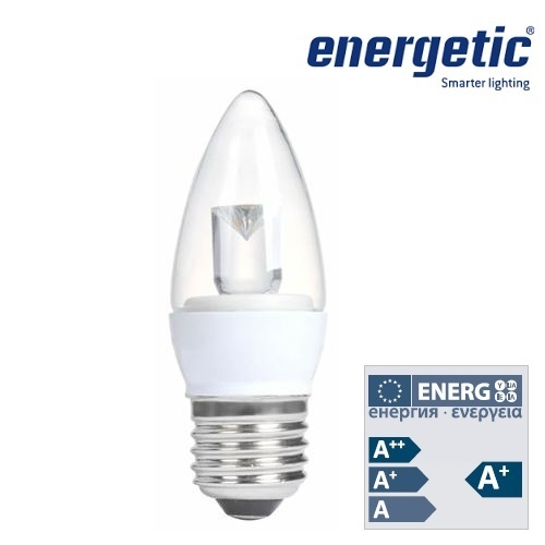 Energetic Lamp 4.8w E27 Candle Clear LED Dimmable 2700k 5831551251