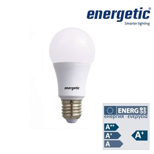 Energetic Lamp A60 Frosted Bulb E27 9W LED Dimmable 2700k 5852 0912 51