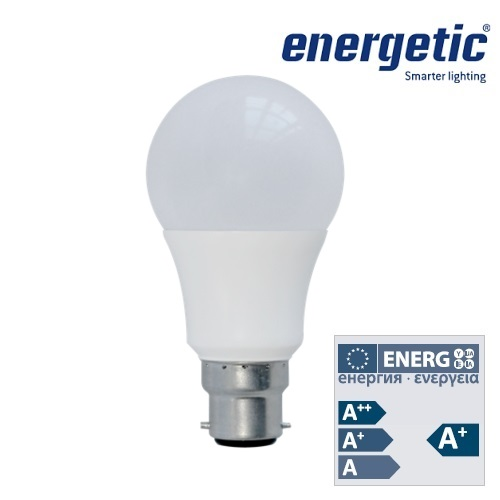 Energetic Lamp A60 Bulb Frosted B22 9.5W LED Dimmable 2700k 5852 9513 51