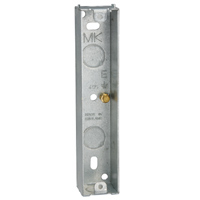 2 Gang Architrave Flush Box Galvanised 3922