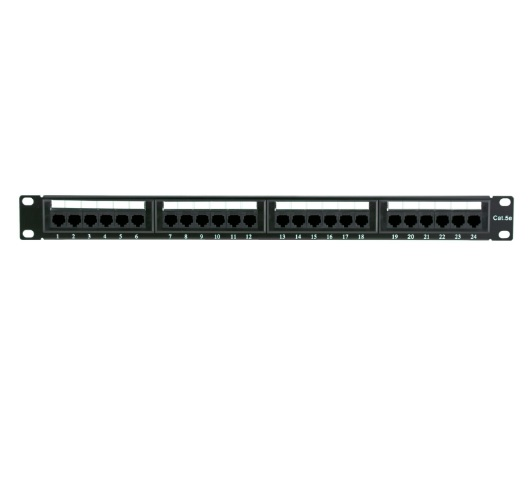 CAT5E 24 Port Patch Panel UTP 1U - (Overall 483x45mm) CH2202S