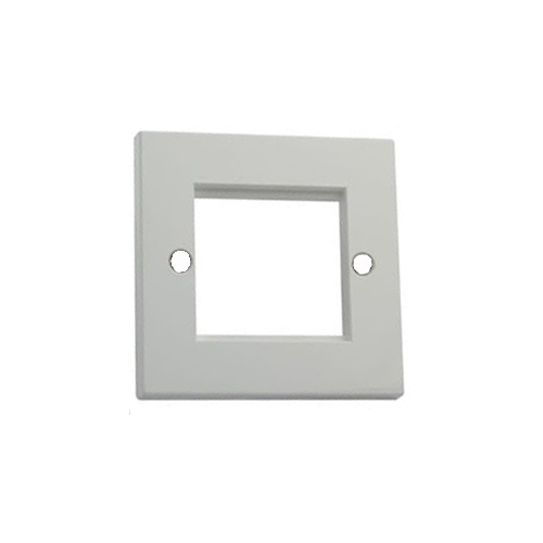 2 Port Faceplate (50x50mm) Fits 2x Euro Mod (50x25mm) CH2212S