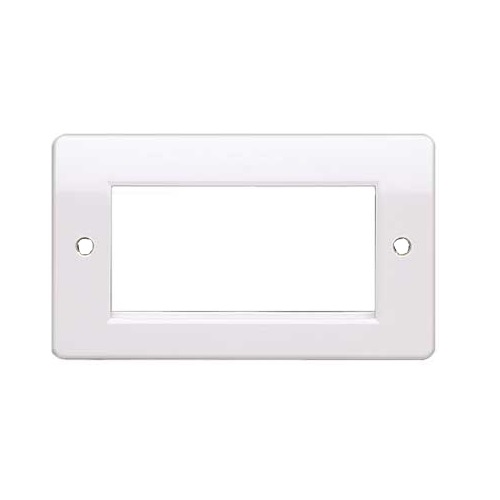 4 Port Faceplate (100x50mm) Fits 4x Euro Mod (50x25mm) CH2213S