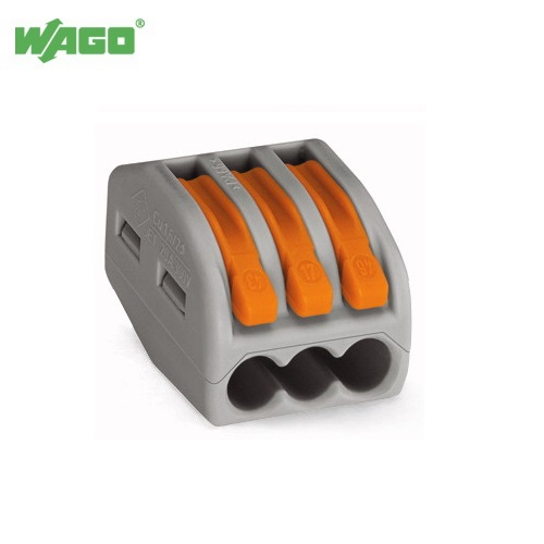32A 3 Way WAGO Terminal Lever Splicing Connector 222-413 Wago