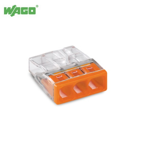 24A 3 Way WAGO Push Wire Connectors 0.5mm-2.5mm² 2273-203 Wago