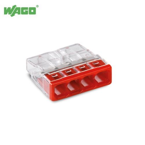 24A 4 Way WAGO Push Wire Connectors 0.5mm-2.5mm² 2273-204 Wago 2273204
