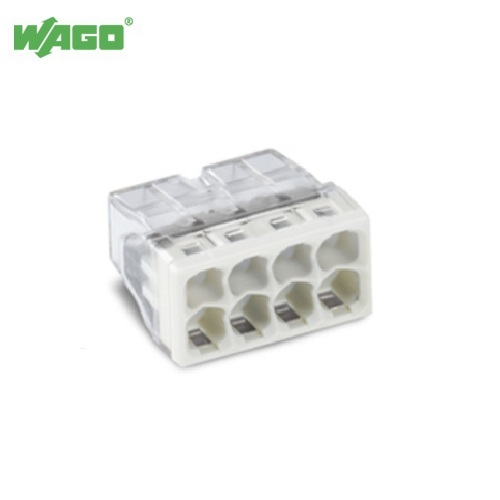 24A 8 Way WAGO Push Wire Connectors 0.5mm-2.5mm² 2273-208 Wago 2273028
