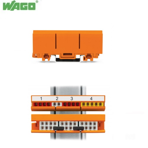 WAGO 2273-500 Din Rail Mounting Carrier For Compact Push-Wire Connectors 10 Pack