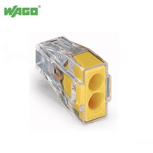 24A 2 Way Wago PUSH WIRE® Connectors 0.75mm-2.5mm² 773-102 Wago