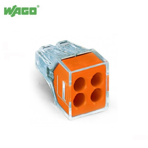 24A 4 Way Wago PUSH WIRE® Connectors 0.75mm-2.5mm² 773-104 Wago