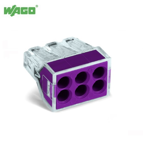24A 6 Way Wago PUSH WIRE® Connectors 0.75mm-2.5mm² 773-106 Wago