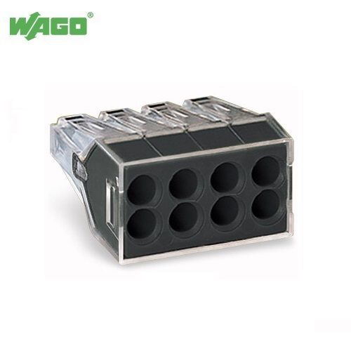 24A 8 Way Wago PUSH WIRE® Connectors 0.75mm-2.5mm² 773-108 Wago