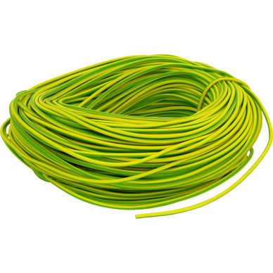 Earth Sleeving 4mm Green/Yellow 100 Meter Coil  GY1400
