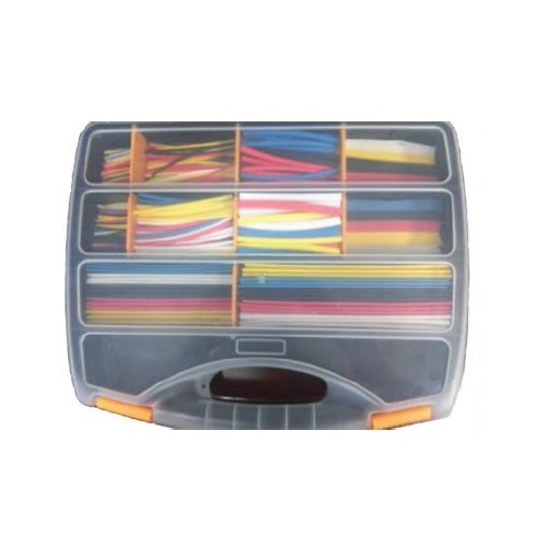 CMXHS Heat Shrink Assortment Case Ratio 2:1 - 590 Pieces Various Sizes/Colours
