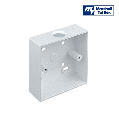 1 Gang Surface Box 87x87mm x 32mm Deep C/W 20mm Knock Out MSSB10KWH