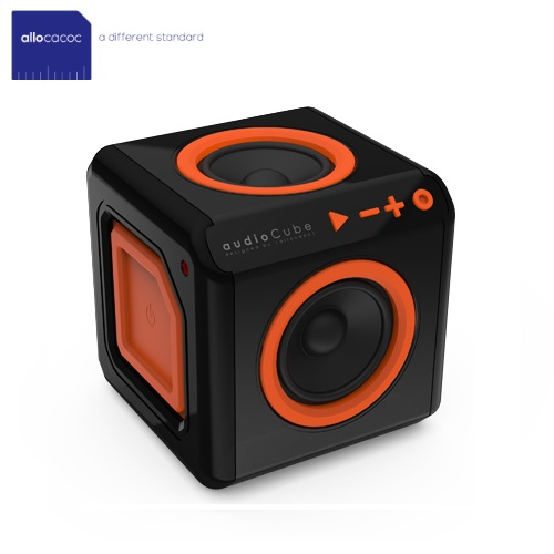 Allocacoc AudioCube Portable Black/Orange 3803/UKACPT