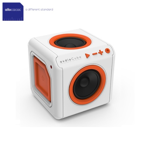 Allocacoc AudioCube Portable White/Orange 3903/UKACPT