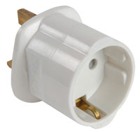 Europlug-Ireland Adaptor 2 Pin Side Earth Plug Top 13A 9168