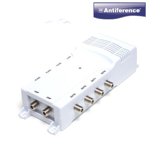 Antiference DA280LTE 8 Way TV Amplifier With Sky Bypass (F-Type) 75 Series DA280