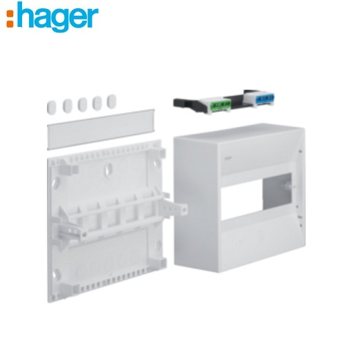 Hager 1 Row 10 Module Insulated Enclosure IP30 GD110N