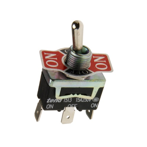 Metal Toggle Switch T513A 1 Pole On/Off/On 15A/250V SPDT
