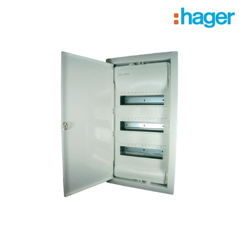 Hager Recessed Consumer Unit / Distribution Board 3 Row 36 Module (3x12) IP30 VF900