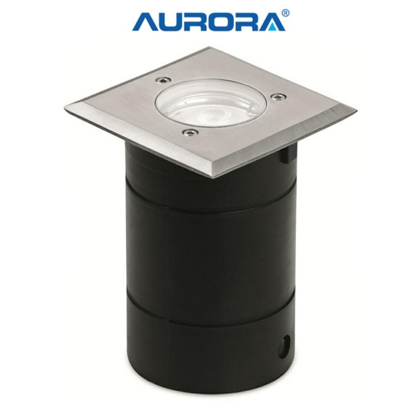 Aurora AU-WU022 240V/12V GU10/MR16 Stainless Steel IP65 Fixed Square Recessed Walkover Light