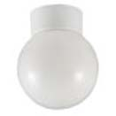 100W White Bathroom Ceiling Globe Fitting BC Lamp (Not Incl) IP44