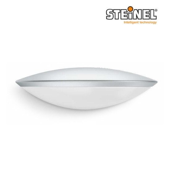 Steinel L825 iHF 12W LED Sensor Switched Downlight Silver 160° IP44 L825LED