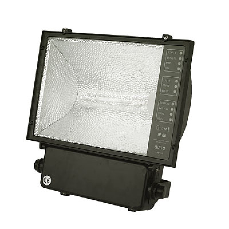 400w metal halide flood light c w lamp hlo7340 halo. Black Bedroom Furniture Sets. Home Design Ideas