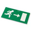Emergency Sign Legend Right Arrow