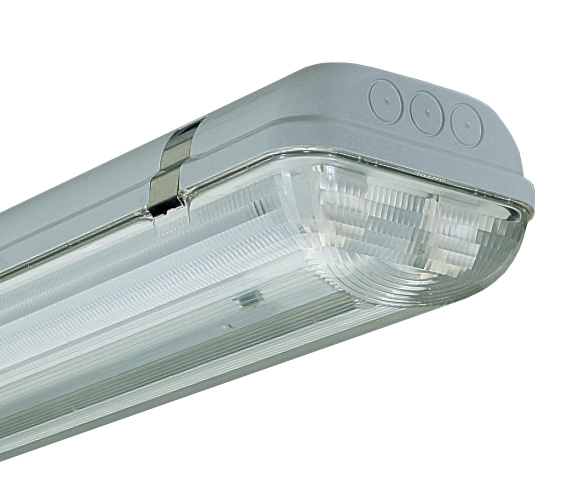 3F Filippi Linda 2 x 49w T5 C\W Lamp s\s clips IP65 Emergency 3F249E3