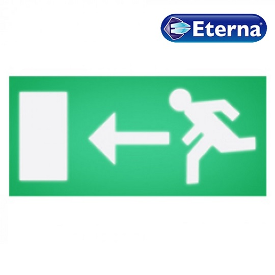 Eterna Left Arrow (Running Man) Legend For Box Sign Emergency Light EBLGDL