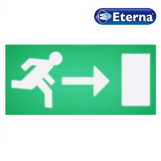 Eterna Right Arrow (Running Man) Legend For Box Sign Emergency Light EBLGDR
