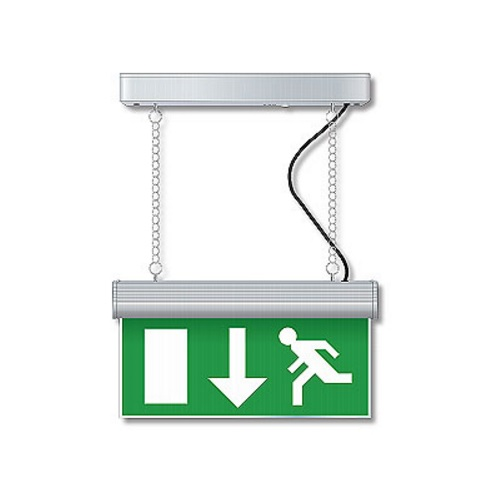 Eterna LEDEHSLS Matt Silver Effect LED Emergency Exit Sign Light