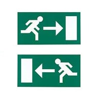Menvier Exit Sign Double Sided Arrow Left/Right Legend LUCALR