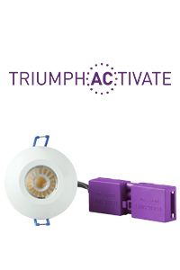 TRIUMPH ACTIVATE 8W Fire Rated Dimmable Downlight 3000K IP65 Warm White | Robus RATR8P03038-01