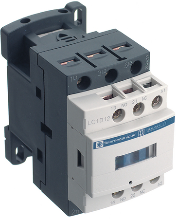 12A 400v Contactor 1 Normally Open 1 Normally Closed LC1D12V7 Telemecanique LC1D12V7