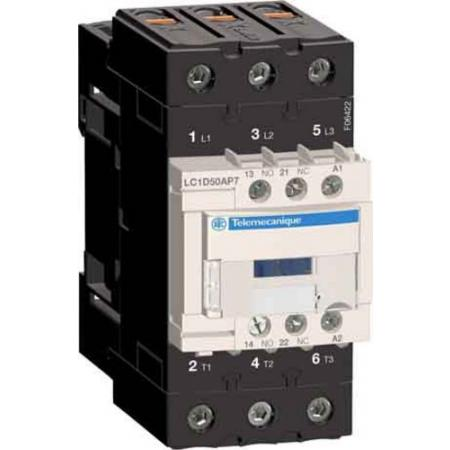 50A 230v Contactor 1 Normally Open 1 Normally Closed LC1D50AP7 Telemecanique LC1D50AP7