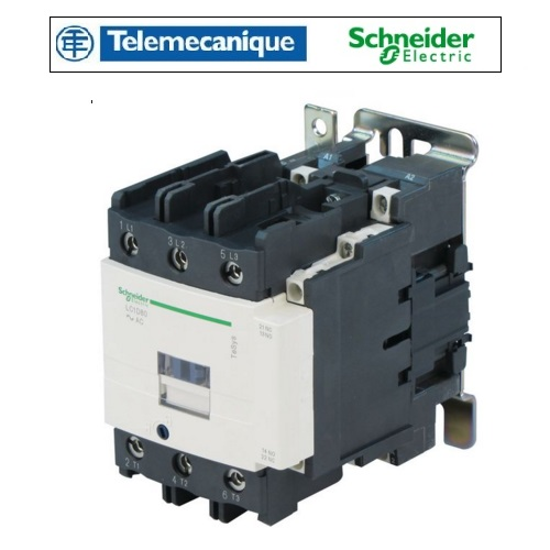 80A 220v Contactor 1 Normally Open 1 Normally Closed LC1D80P7 Telemecanique LC1D80P7