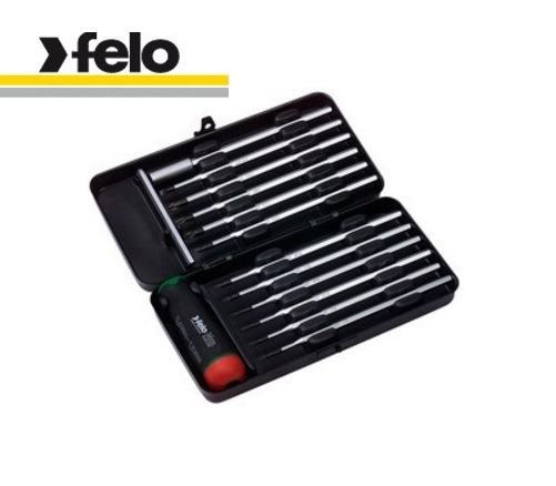 Felo 14 Piece Series Nm Screwdriver Box (Torx®,Torx® Plus, Slot, Phillips, Pozidriv, Bit Holder, Handle) 100 991 16
