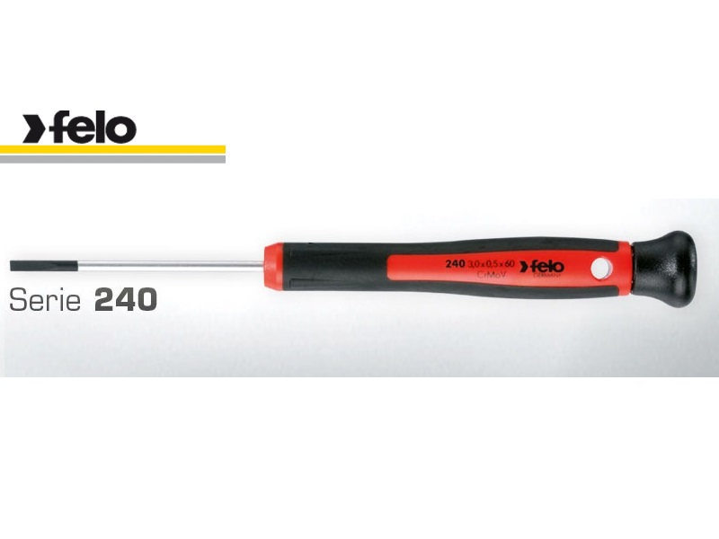 Felo Series 240 Flat Head Screwdriver 2.5 X 0.4 X 60 Swivel For Slotted Screws 240 252 50