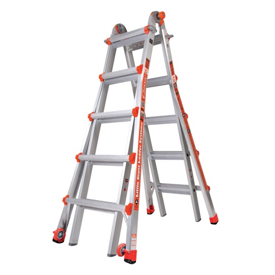 Little Giant 6 Step Classic Versatile A-Frame Step Ladder(22ft) 1303-104