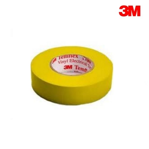 3M Temflex 1500 YELLOW PVC Electrical Insulation Tape 20m Roll (19mm x 0.15mm)
