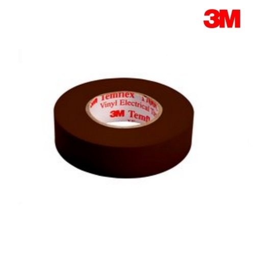 3M Temflex 1500 BROWN PVC Electrical Insulation Tape 20m Roll (19mm x 0.15mm)