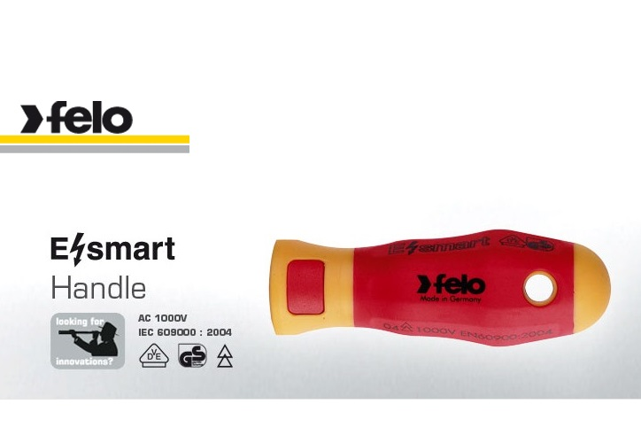 Felo E-Smart Spare Screwdriver Handle Soft Grip AC 1000V | 063 105 00