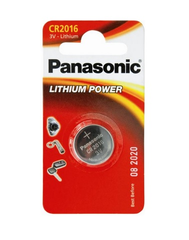 Battery 3V Lithium Panasonic Coin Cell - Pack Of 1